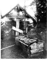 Голбец (голубец). Русское северное кладбище. Фото 50-х годов